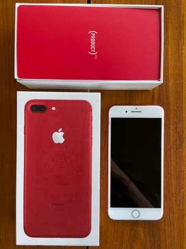 Vendo iphone7 plus red, 128gb. Como nuevo, nunca se cambio pantalla , no tiene golpes ni marca alguna.