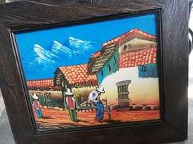 Pintura campesinos en óleo
