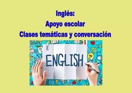 Inglés: apoyo escolar, clases virtuales y traducciones