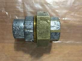 Unión doble de hidro bronce 1 pulgada , para soldar  nuevas .