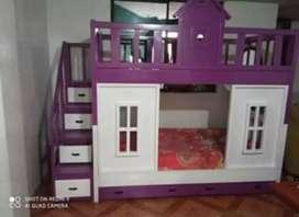 Litera de Madera modelo casita