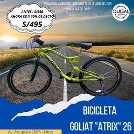 """•BICICLETAS GOLIAT """"ATRIX"""" ARO 26"""