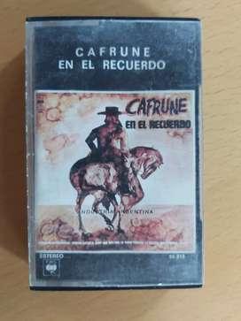 Cassette cafrune en el recuerdo