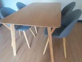 Mesa comedor asher con 4 sillas1