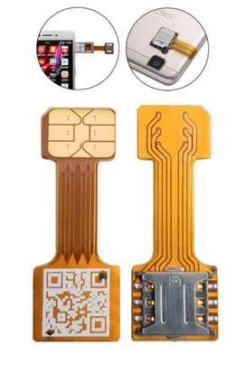 Adaptador Hibrido Dual Nano Sim con Micro SD segunda mano  Perú