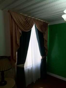 Vendo cortina y galería