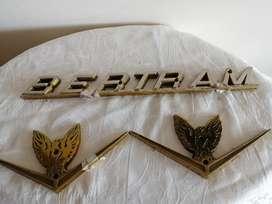 Logo para barco Bertram en bronce