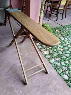 Tabla de planchar antigua madera