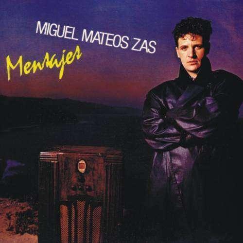 Disco de vinilo maxi single 45 rpm Mensajes Miguel Mateos Zas 0