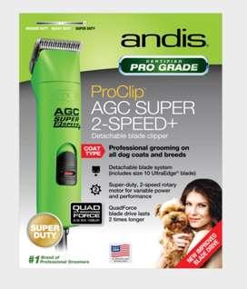 Razurador Andis ProClip Agc Super 2 Velocidades, Verde, Mascota Groomer, Nuevo
