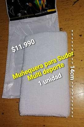 MUÑEQUERA PARA SUDOR MULTIUSOS DE 14CM. 1 UNIDAD.