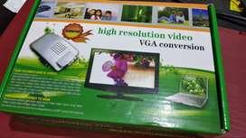 Convertidor RCA (audio-video) a VGA (monitor PC)