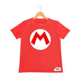 camiseta super mario bros para niños y adultos