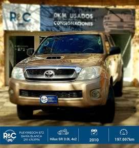 Toyota Hilux SR 3.0L DC 4x2 MT '10 - 197.000km - Impecable!