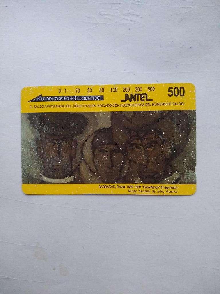 tarjeta antel antigua de telefono Uruguaya BARRADAS 0