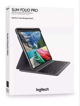 Case Con Teclado En Español Logitech Slim Folio Pro @ iPad Pro 11 Del 2018