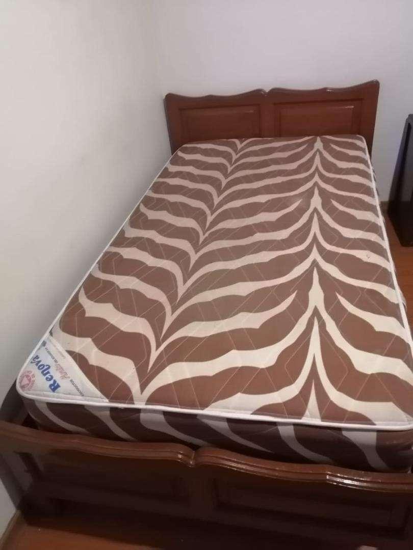 Cama 1 1/2 ($80) cama y colchon (100) 0
