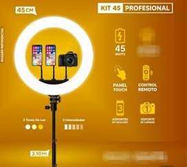 Aro de luz led 45 cm + Tripode 2.10metros