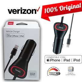 Cargador para carro Adaptador Vehicular De iPhone iPad iPod Lightning