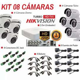 Vendo kit de 8 cámaras de seguridad 720 HD