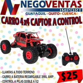 CARRO 4X4 CAPTOR CONTROL REMOTO