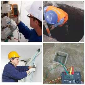SERVICIOS DE ELECTRICISTA Y POZOS DE PUESTA A TIERRA, PINTOR Y DRYWALL