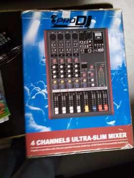 Vendo audio mixer PRODJ CH4USB