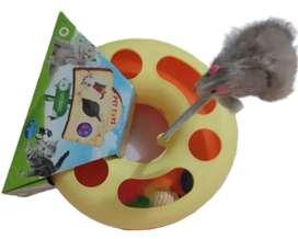 Juguete Interactivo Para Gato Placa Giratoria Circular Ratón Diversión Oferta!!!