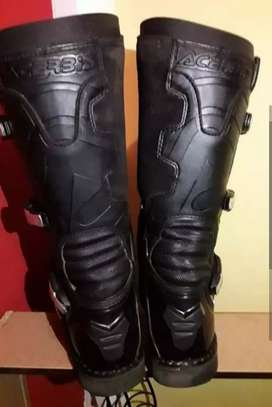 Botas acerbis all black talle 44