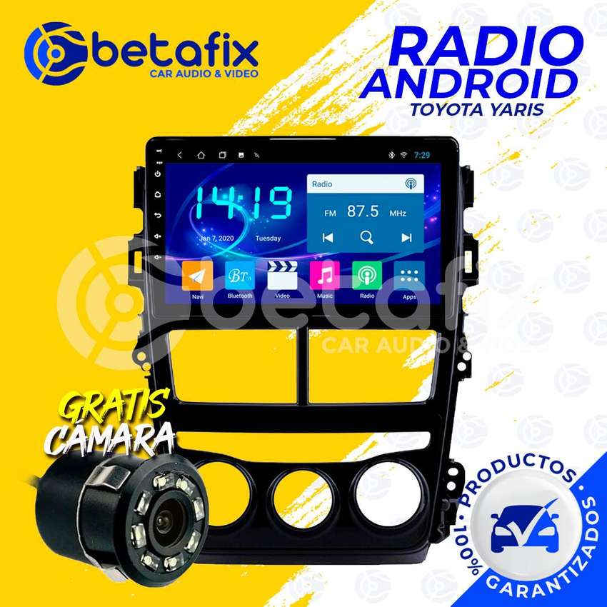 RADIO ANDROID PARA TOYOTA YARIS 2018/20 GPS BT USB WIFI BETAFIX DESDE