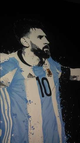 """Cuadro decorativo """"Lionel Messi"""""""