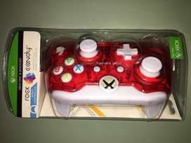 Control para Xbox ONE con cable, PDP Rock Candy color rojo