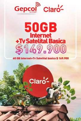 Vendo tv Satelital e Internet para su finca, casa rural y urbana con el operador  claro
