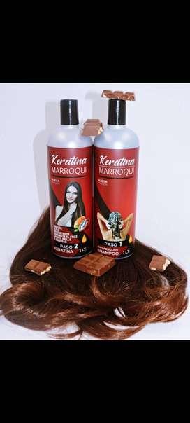 keratina  marroqui de chocolate uso profesional