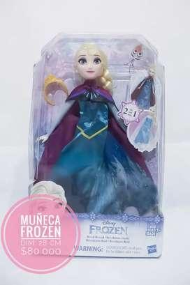 Muñeza frozen Elsa vestido 2 en 1