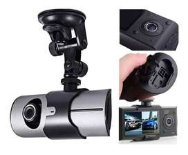 Cámara Dvr R300 Doble Lente Para Carro Full Hd Sensor Y Gps
