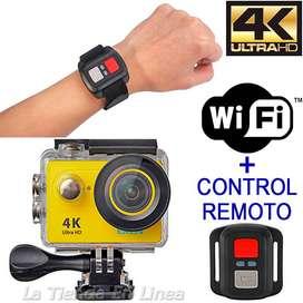 Camara Deportes Video H9 4k Uhd Wifi + Accesorios + Control