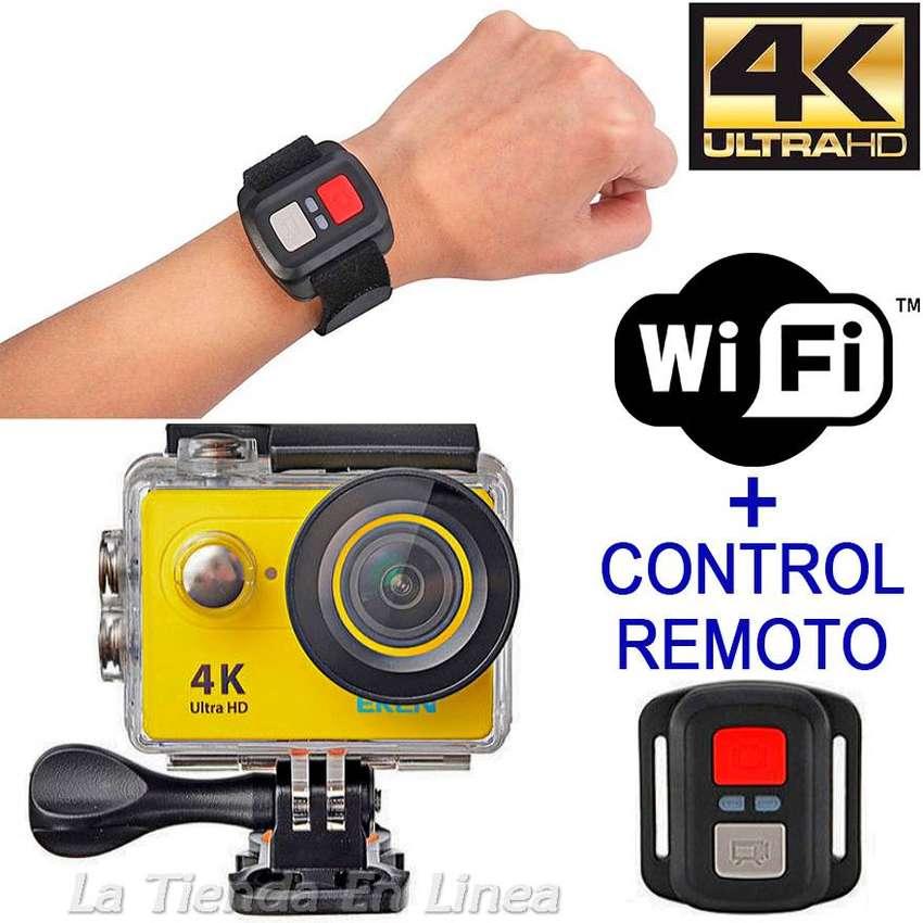 Camara Deportes Video H9 4k Uhd Wifi Accesorios Control 0