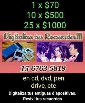 Digitalización de diapositivas y negativos