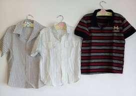 camisas y remera niño