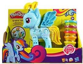 PLAYDOH Rainbow Dash My Little Pony Peinado De Colores ORIGINAL HASBRO
