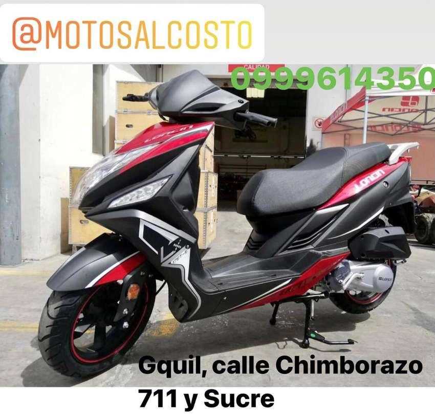 Moto Pasola Loncin 180cc Automatica con asiento ancho