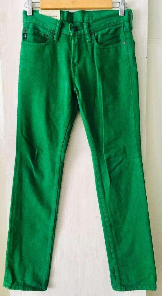 Pantalon Jean Verde Abercrombie Kids. 14 0