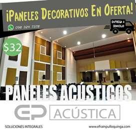 Paneles Acústicos y Decorativos En Oferta!!