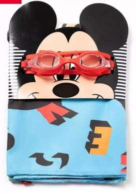 Pack toalla y lentes de playa niños