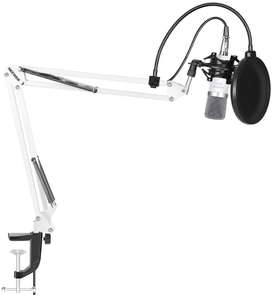 Microfono Condensador Neewer Nw-700 + Kit Brazo Stand White