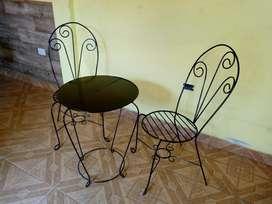 Juego de jardín nuevo set 3 piezas 2 sillones hierro y mesita ¡OFERTA!