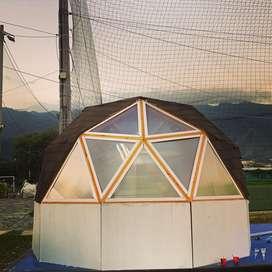 Glamping- domos geodesicos