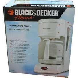 Black and Dekker Cafetera de 12 tazas como nueva con caja Funza Bogota
