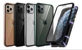 Case iPhone 11 / Pro / Max Protector 360° De Vidrio Y Metal